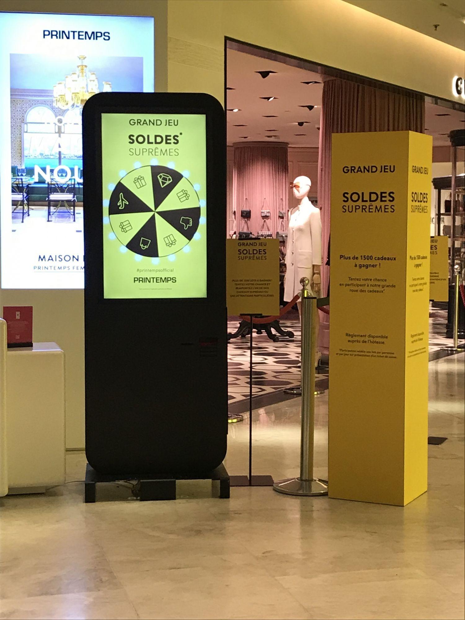 borne interactive magasin